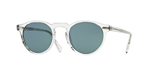Oliver Peoples 5217S 1101R8 Crystal Gregory Peck Sun Round Sunglasses Lens - Peoples Peck Sunglasses Oliver Gregory
