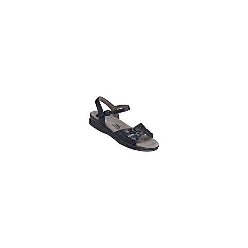 SAS Women's Duo Black Leather Sandal Size 5.5 Medium