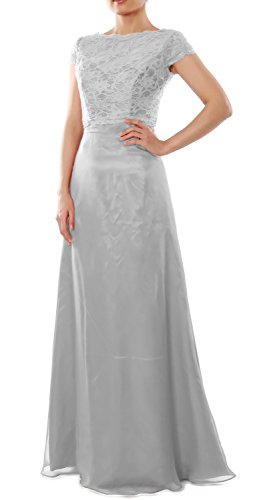 Bridesmaid Cap Gown Silber Elegant Sleeve Wedding Dress Long Party Jacket MACloth with IanHqxgg
