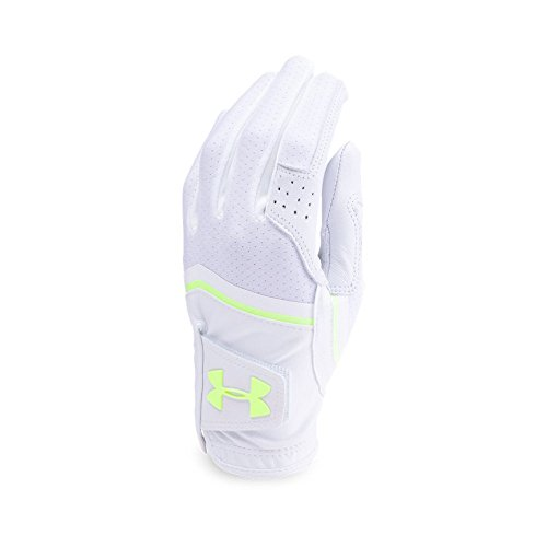 Under Armour Women's CoolSwitch Golf Glove,White (101)/Lime Fizz, Right Hand Medium