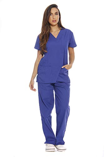 Just Love 22253V-3X Galaxy Blue Women's Scrub Sets/Medical Scrubs/Nursing Scrubs