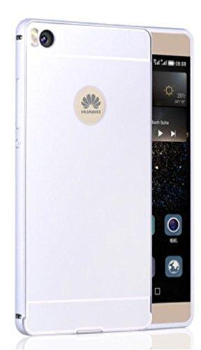 Prevoa ® 丨 Huawei P8 Lite Funda - Metal Funda Cover Case para Huawei P8 Lite 5.0 Pulgadas Android Smartphone - Plata Color < NO BLANCO >