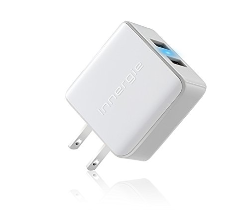 2 Pack - Innergie mMini AC15 Dual USB (2.1A & 1A) 15W Wall Power Adapter for iPhone, iPod, and all Smartphones by Innergie (Image #2)