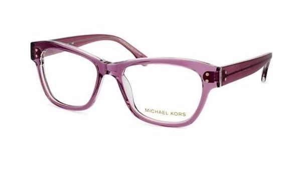 bbe7a7f90c08 Amazon.com: Michael Kors Eyeglasses MK244 533 Plum Crystal Demo 52 17 140:  Clothing