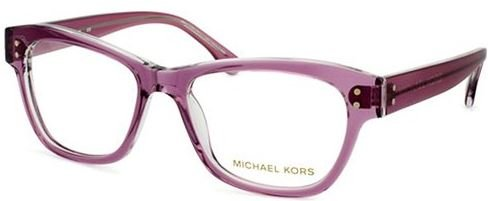 c85f22496bd5 Image Unavailable. Image not available for. Color: Michael Kors Eyeglasses  MK244 533 Plum Crystal ...