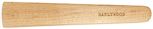 9.5 in Handmade Kitchen Cooking Utensil, Thin Dark Wood Saute Spatula, Multipurpose Flat Wooden Spatula, Perfect for flipping, scraping, sauteing, turning - Wooden Cooking Utensils - Made in USA - M ()