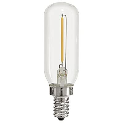 Light Blue™ 1-Watt (15W) LED T6 Tubular Filament, 120V, Candelabra (E12) Base Light Bulb, Dimmable, UL-Listed (6-PACK)