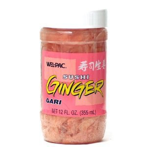 Wel-Pac Pickled Ginger Sliced, 12-Ounce Jars (Pack of 3)