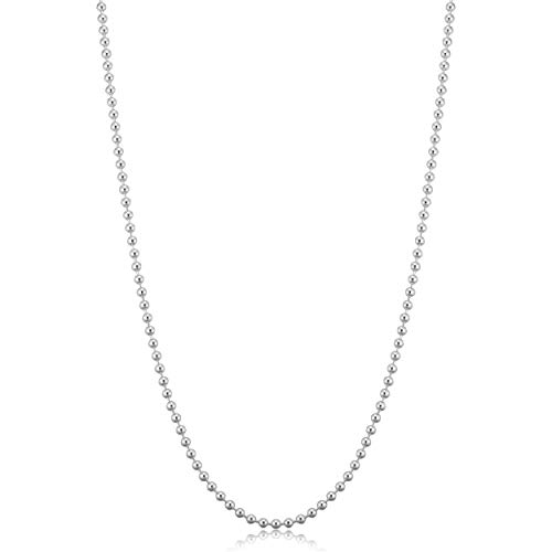 Kooljewelry Sterling Silver Polished Ball Chain Necklace Neckalce (1.8 mm, 18 inch) ()