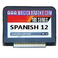 Nuevo Spanish 12 Magic Sing Karaoke Mic Song Chips 180 Songs - Add 180 More Songs to Your Magic Karaoke