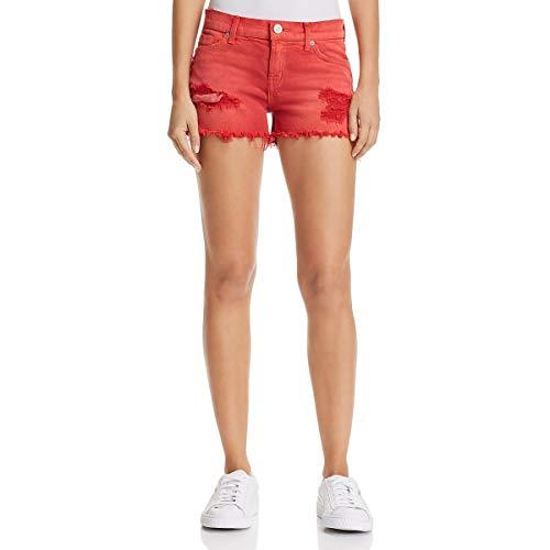 HUDSON Women's Kenzie Cut Off Jean Shorts in Red Alert Red Alert 29 3