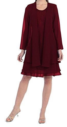 Mother Of The Bride Formal Evening Church Gown 8694S Burgundy 3X