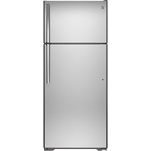 Ge - 17.5 Cu. Ft. Top-freezer Refrigerator - Stainless Steel