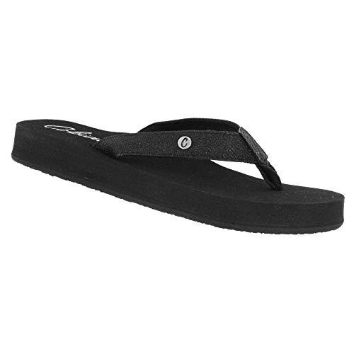 Cobian Cancun Bounce Women's Flip Flop Sandal - Black
