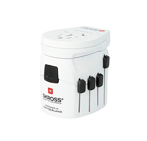 Skross Pro-World & USB Travel Adaptor, White