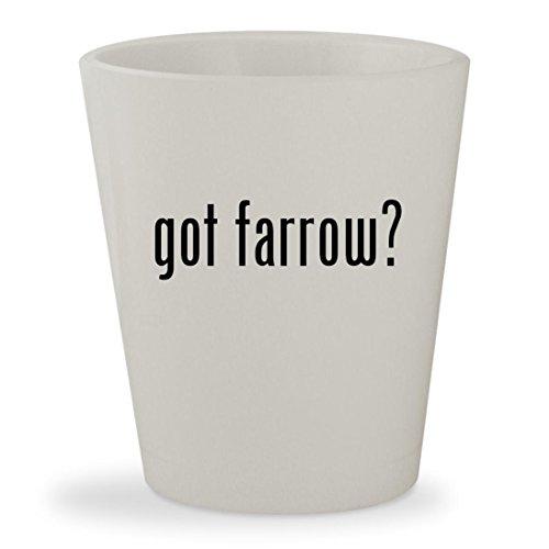 got farrow? - White Ceramic 1.5oz Shot - Sunglass Denver Hut