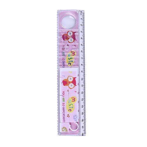 Glumes Animal Print Striaght Ruler with Jigsaw Puzzle Math Rulers Shatterproof Plastic Ruler Straight Soft Ruler Single Ruler for Student School Office, Architect, Engineers, Craft -
