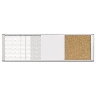 Mastervision - Magnetic Calendar Combo Board 48 X 18 Aluminum Frame ''Product Category: Presentation/Display & Scheduling Boards/Planning Boards/Schedulers''
