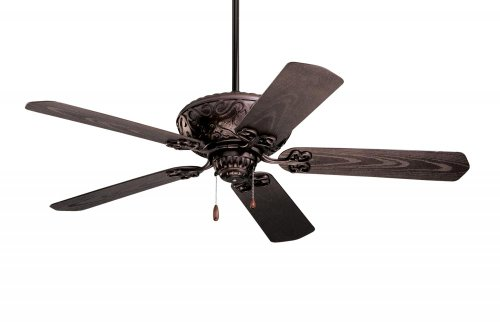 Devonshire Ceiling Fixtures (Emerson Ceiling Fans CF670ORB Devonshire 52-Inch Indoor Outdoor Ceiling Fan, Damp Rated, Light Kit Adaptable, Oil Rubbed Bronze Finish)