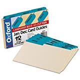 * Laminated Tab Index Card Guides, Monthly, 1/3 Tab, Manila, 5 x 8, 12/Box *