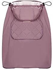 Bebamour Cover for Baby Carrier Universal Hoodie All Season Stroller Covers (Pink)
