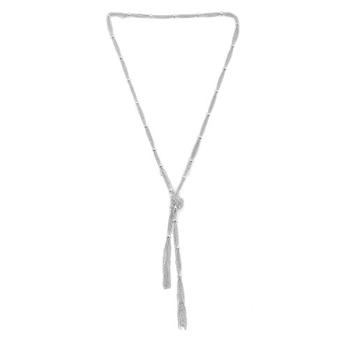 Spinningdaisy Station Cocktail Necklace Silver
