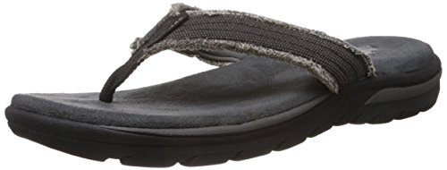 Skechers Relaxed Fit Supreme Bosnia Mens Flip Flop Sandals Black 10