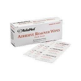Reliamed Adhesive Remover Wipes -Box of 50 by ReliaMed Wipes