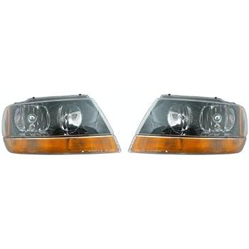 amazon com eagle eyes pair set right left headlights headlamps