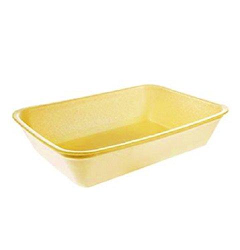 Yellow Foam Meat Tray - CKF 42Y, 42P Yellow Foam Meat Trays, Disposable Standard Supermarket Meat Poultry Frozen Food Trays, 100-Piece Bundle