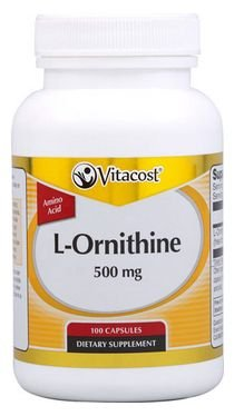 L-ornithine 100 Capsules (Vitacost L-Ornithine -- 500 mg - 100 Vegetarian Capsules)