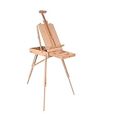 Easel Box - Folding Art Tripod Solid Wood Artist Outdoor Oil Painting, Gouache, Sketch Portable