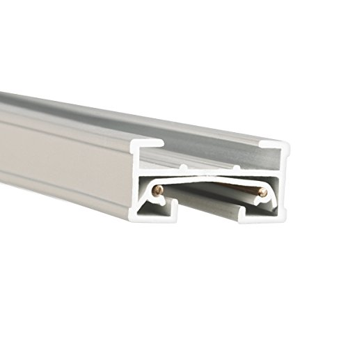 Edge White Cap (WAC Lighting JT6-WT 120V 6 Foot J Track with Mounting Hardware and Two End Caps, Single Circuit, White)