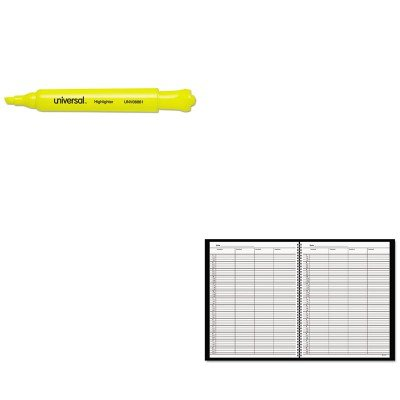 (KITAAG8031005UNV08861 - Value Kit - At-a-Glance Recycled Four-Person Group Undated Daily Appointment Book (AAG8031005) and Universal Desk Highlighter (UNV08861))