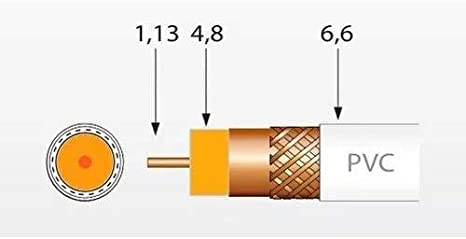 Televes - Cable coaxial t100 cu/cu polietileno clase a 100m negro