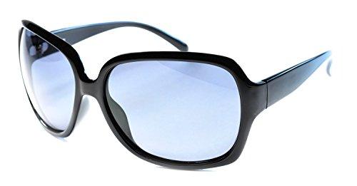 Black Smoke Flash Mirror Lens - Polarized Sunglasses with Flash Mirror lens APL75 (Black & Smoke)