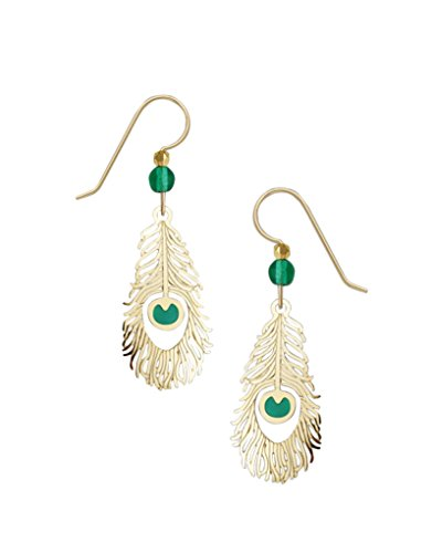 Sienna Sky Etched Brass Peacock Feather Earrings (Etched Brass Earrings)