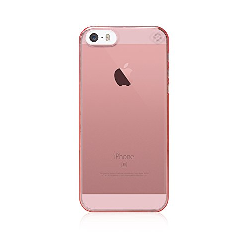 Bling-My-Thing - Minimalist - Case for Apple iPhone SE/5/5S - Retail Packaging - Tinted (Tinted Pink Case)