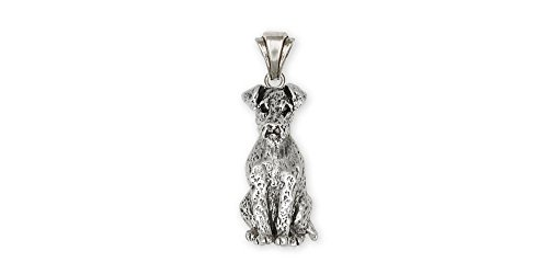 Airedale Terrier Jewelry Sterling Silver Airedale Terrier Pendant Handmade Dog Jewelry AR4-P