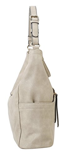 Diophy 2 Pocket with Nude Pieces Wallet Hobo Front Zipper Matching Set 7Fq0Ur7w