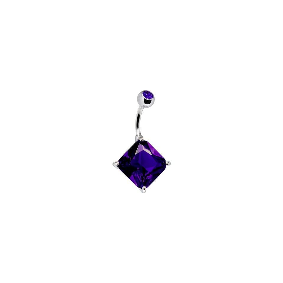 Multi Gem Bowtie Drop Belly Ring