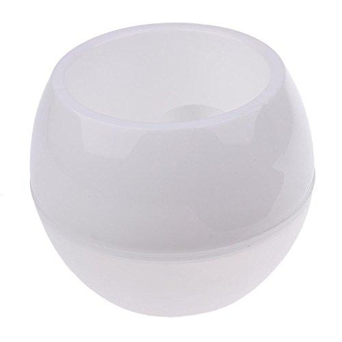 Plant Pots Strong Plastic White Flower Pot Hanging Planter I05 ()