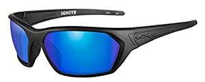 Wiley X Ignite Emerald Polorized Tactical Sunglasses, Black Matt Frame