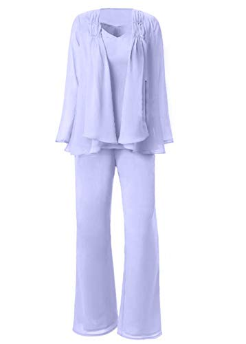 Plus Size Mother of The Bride Pant Suits Size 18 Lilac