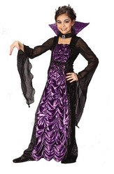 [Partyland Countess of Darkness, Child (8-10) Costume] (Classic Vampire Child Costumes)
