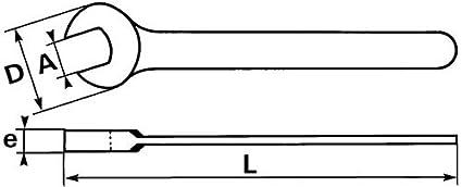 Cl/é /à simple fourche puissante en mm Sam outillage 6938