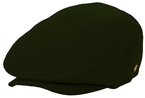 DRY77 Wool Blend Newsboy Flat Driver Ivy Hat Winter Cold Solid Warm Cool, Olive, L