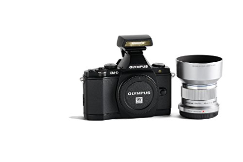 Olympus OM-D E-M5 Mirrorless Digital Camera with M. Zuiko 45mm f/1.8 Lens and FL-LM2 Flash Premium Edition Bundle (V204040BU020) (Olympus 45 Hood compare prices)