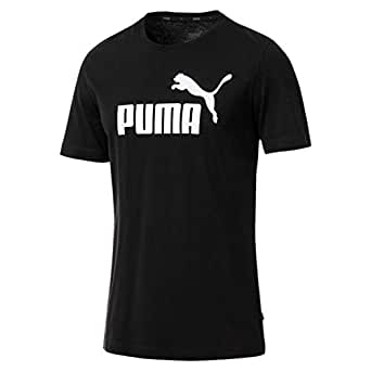 PUMA Men's ESS LOGO TEE, Cotton Black, S