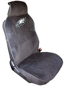 Philadelphia Eagles Seat Cover - Black (Eagles Truck Seat Covers)